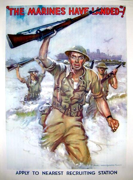 Notice the 1903 Springfield in this 1942 recruiting poster.