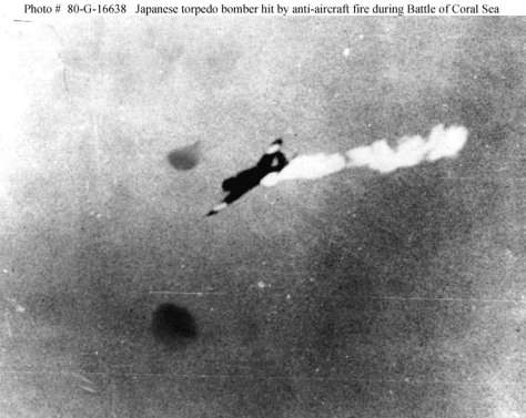 Japanese planes did not have self-sealing fuel tanks
