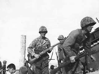 Marines carry the M1 Garand into battle at Tarawa Nov 1943