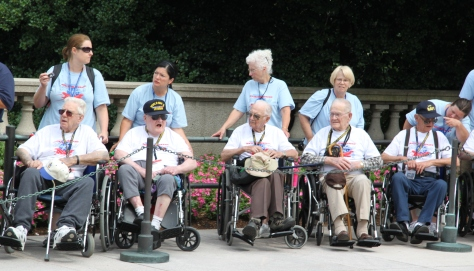 WWII vets at the Tomb of the Unknown Soldier. July 2010