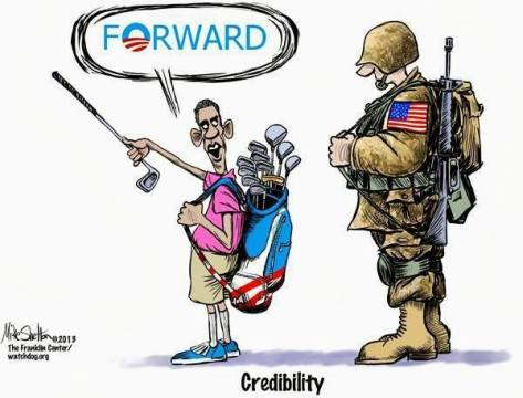 obama forward with soldier