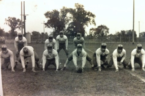 Capt Smisek Football at 18 yo Thrid from front right