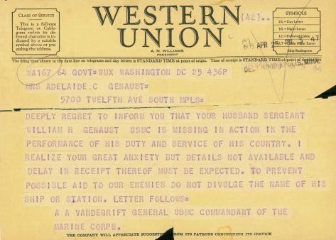 genaust letter usmc archives