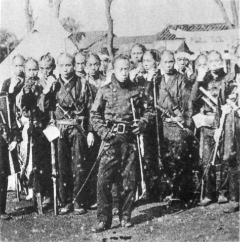 soldiers in Western style uniform