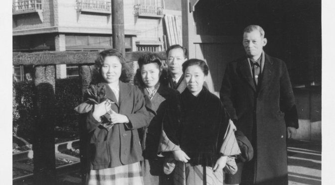 A Blue Dress, Food and Post-war Japan